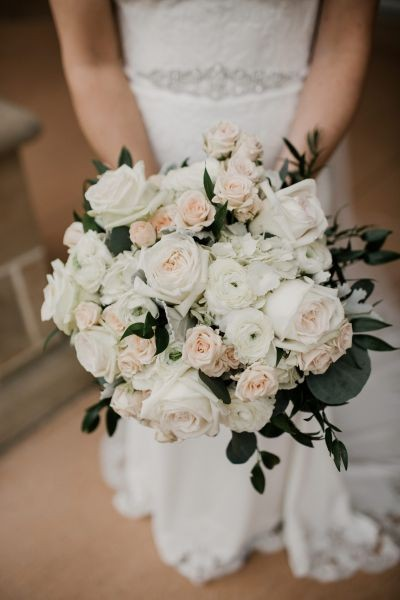 Blush & Cream Wedding Flower Preservation // Stephanie & Mark