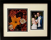 Preserved Wedding Flowers in Frame with Front Mat w/ Photo 12